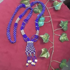 Handmade African inspired bead necklace